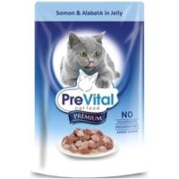 Prevital Erişkin Premium Somon&Alabalık İn Jelly Kedi Pouch 100Gr