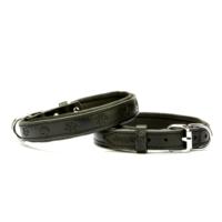 Doggie Comfort Pati Desenli Boyun Tasması Siyah 2,0 X 40Cm