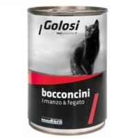 Golosi Bacconcini Siğir Etli Ve Ciğerli Kedi Konservesi 400 Gr. 12 Adet
