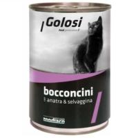 Golosi Golosi Bacconcini Ördek Ve Av Hayvanlı Kedi Konservesi 400 Gr 12 Adet
