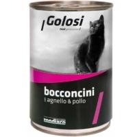 Golosi Bacconcini Kuzu Etli Ve Tavuklu Kedi Konservesi 400 Gr. 12 Adet