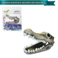 Dophin Akvaryum Dekoru Yapay Timsah Kafatası