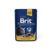 Brit Premium Pouches Tavuklu Ve Hindilii Kedi Konservesi 100Gr