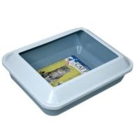 Hagen Catıt Beyaz - Mavi Büyük Boy Siperli Açık Çerçeveli Tuvalet Kabı