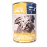 Chicopee Tavuk Ve Hindi Eti Parçacıklı Köpek Konserve Maması 400 Gr