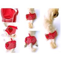 Köpek İç Çamaşırı - Kırmızı Çilekli Regl Kölot