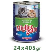 Miglior Gatto Tavşanlı Kedi Konservesi 405 Gr (24 Adet)