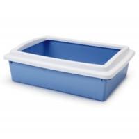 Stefanplast Cat Litter Tray Açik Kedi Tuvaleti Mavi 40X30X10 Cm