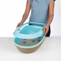 Trixie Elekli Kedi Tuvaleti Kenarlıklı Yeşil 39×22×59 Cm