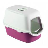 Stefanplast Cathy Kapali Kedi Tuvaleti Pembe 40X40X56 Cm