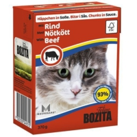 Bozita Tahılsız İsveç Sığır Parça Etli Tetra Paket Konserve Kedi Maması 370 Gr