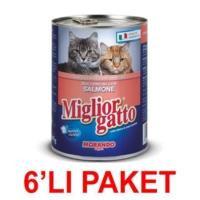 Miglior Gatto Somonlu Kedi Konservesi 405 Gr. (6'Li Paket)