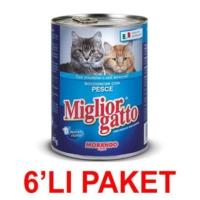 Miglior Gatto Balikli Kedi Konservesi 405 Gr. (6'Li Paket)