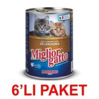 Miglior Gatto Av Hayvanli Kedi Konservesi 405 Gr. (6'Li Paket)
