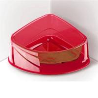 Georplast Lux Corner Big Kedi Ve Köpek Plastik Köşe Mama Ve Su Kabı Büyük - Kırmızı 24,5 X 19 X 9,5(H) Cm
