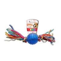 Pawise 14541 Diş İpi Termoplastik Kauçuk Top Köpek Oyuncağı 20 Cm