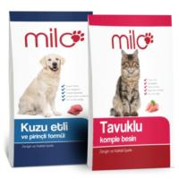 Milo Kedi Maması 1kg+ Milo Köpek Maması 1kg Paket
