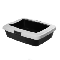 Savic Aristos Medium Açık Kedi Tuvaleti 43 X 34,5 X 12 cm Siyah