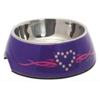 Rogz Mor Renkli Melamin/Çelik Kedi Köpek Mama Kabı Small 160 Ml