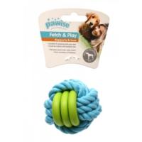 Pawise Plastik Dokumalı İpli Top Köpek Oyuncak