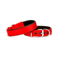 Doggie Dokuma Softlu Sade Köpek Boyun Tasması Kırmızı Dsbt-3010 M