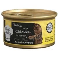 Chefs Choice Soslu Tahılsız Tuna Balığı Ve Tavuklu Kedi Konserve 80 Gr