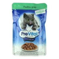 Prevital Kümes Hayvanlı Kısırlaştırılmış Kedi Pouch Yaş Mama 100 Gr