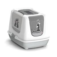 Moderna Trendy Love Kapalı Kedi Tuvalet Kabı 57 Cm