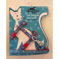 Doggie Etiketli Dokuma Kedi Göğüs Gezdirme Takımı No:3 Kırmızı