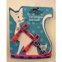 Doggie Etiketli Dokuma Kedi Göğüs Gezdirme Takımı No:3 Turuncu