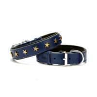 Doggie Comfort Yıldız Metal Süslü Boyun Tasması Mavi 3,0 X 55 cm