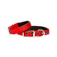 Doggie Dokuma Softlu Sade Boyun Tasması Kırmızı 1,5 X 35 cm