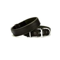 Doggie Dokuma Softlu Sade Boyun Tasması Siyah 3,0 X 55 cm