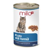 Milo Kuzu Etli Kedi Konservesi 400 gr x 24'lü