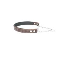 Doggie Comfort Zincir Boğmalı Deri Tasma 2,5*50 cm Kahverengi
