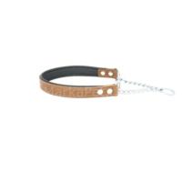 Doggie Comfort Zincir Boğmalı Deri Tasma 2,5*50 cm Kamel