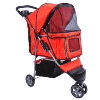 Petaraba Kedi Köpek Taşıma Arabası Kırmızı