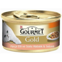 Gourmet Gold Parça Etli Soslu Alabalık Sebzeli 85 gr