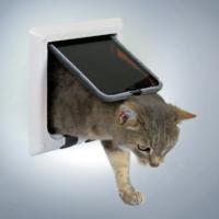 Trixie kedi kapısı, beyaz 21*21 cm
