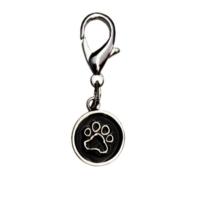 Trixie Kedi Köpek Tasma Süsü Pati Desenli 14 mm Siyah