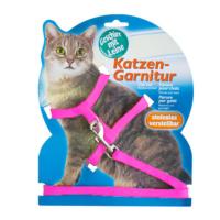 Katzen Kedi Göğüs Tasması Düz Pembe