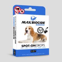 Max Biocide Küçük Ve Orta Irk Köpekler İçin Bitkisel Dış Parazit Damlası (Margosa) 5X1Ml
