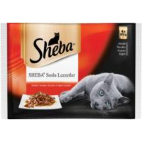 Sheba Kedi yaş pouch Multipack Etli çeşitler (4 pack) 4*85gr