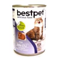 *Bestpet Püre Kıyılmış Dana Etli Konserve Yetişkin Kedi Maması 400 gr