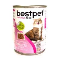 *Bestpet Soslu Parça Ördek Etli Konserve Yetişkin Kedi Maması 415 gr