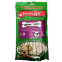 Freshy Dental Twist Burgulu Köepk Çiğneme Çubuk 13 cm 20 adet