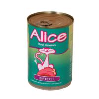 Alice Konserve Biftekli Kedi Maması 400 Gr