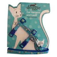 Doggie Kitty Kedi Göğüs Tasması 22/36 cm Mavi
