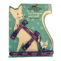 Doggie Gülücük Kedi Göğüs Tasması 22/36 cm Mavi