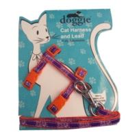 Doggie Gülücük Kedi Göğüs Tasması 22/36 cm Turuncu